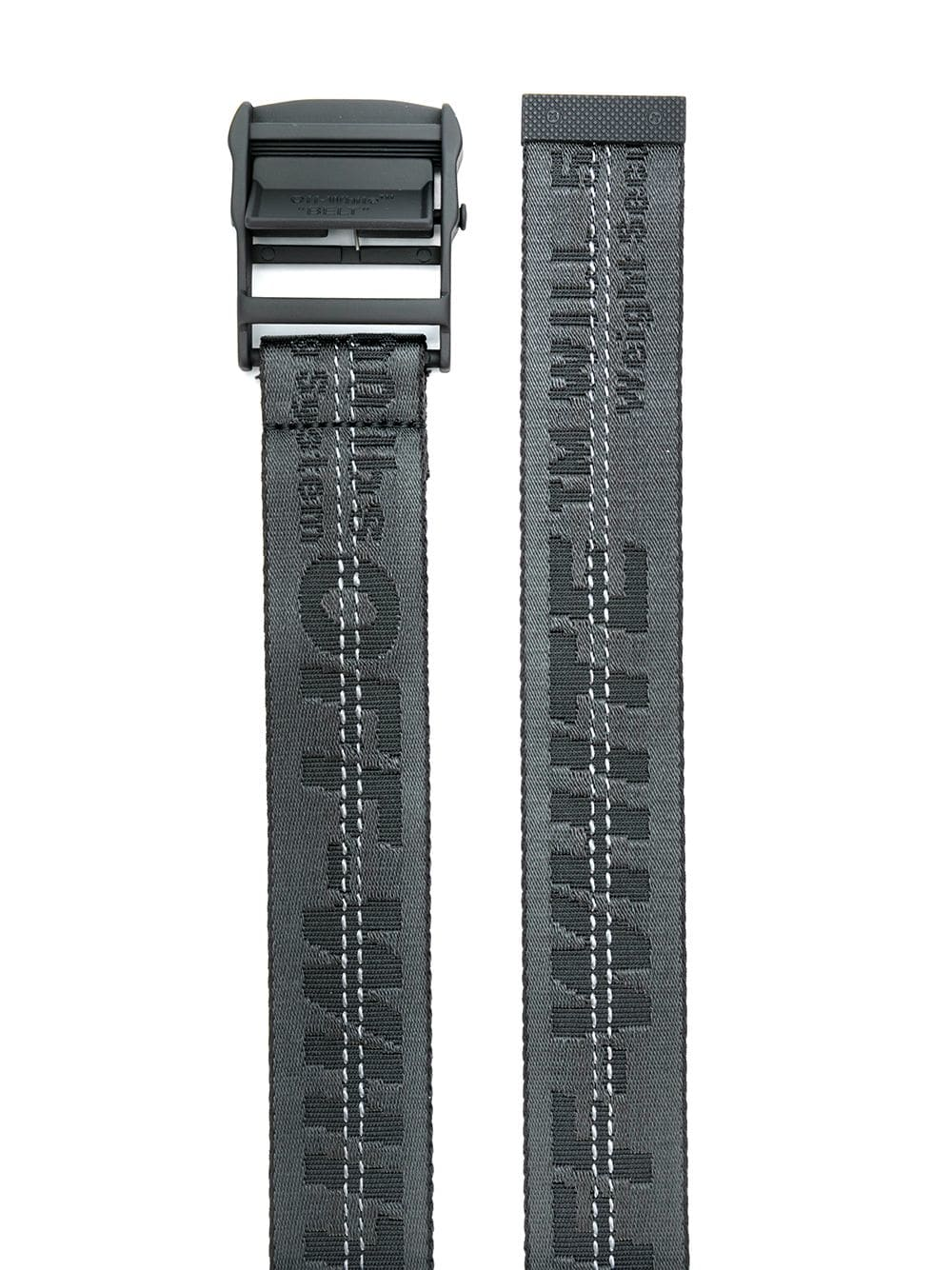 OFF-WHITE Black Industrial Belt - Maison De Fashion