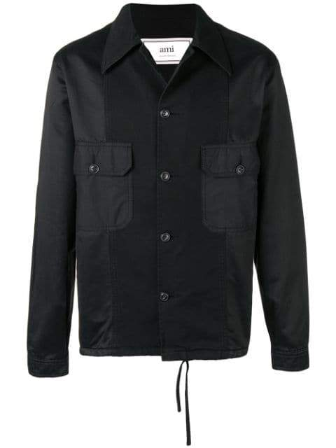AMI Patchwork Jacket black - Maison De Fashion