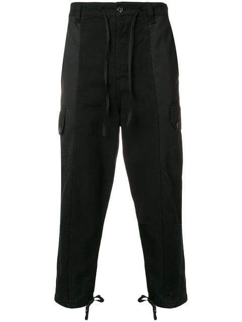 AMI Patchwork Trousers black - Maison De Fashion
