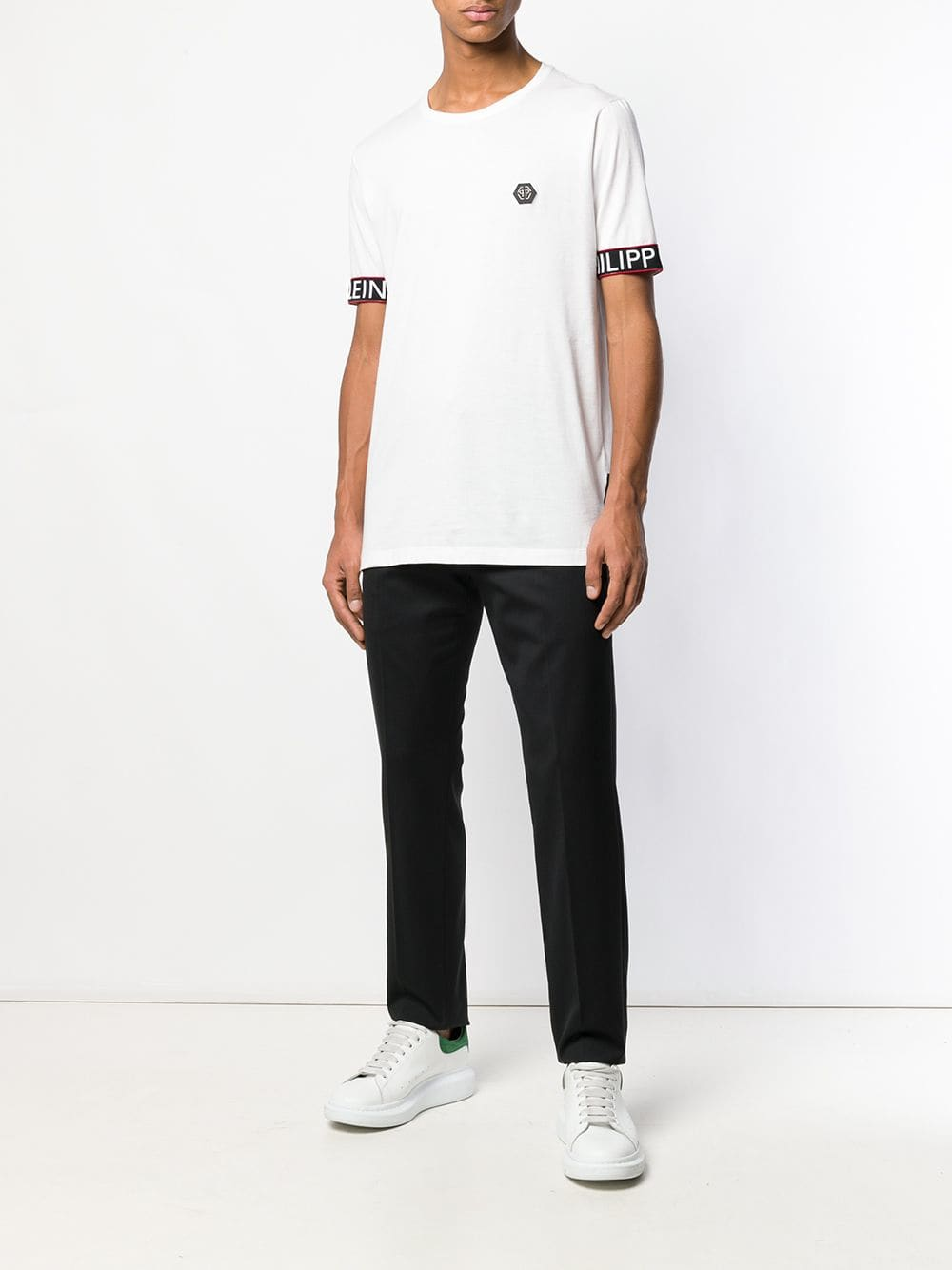 PHILIPP PLEIN contrast logo trim T-shirt | Maison De Fashion