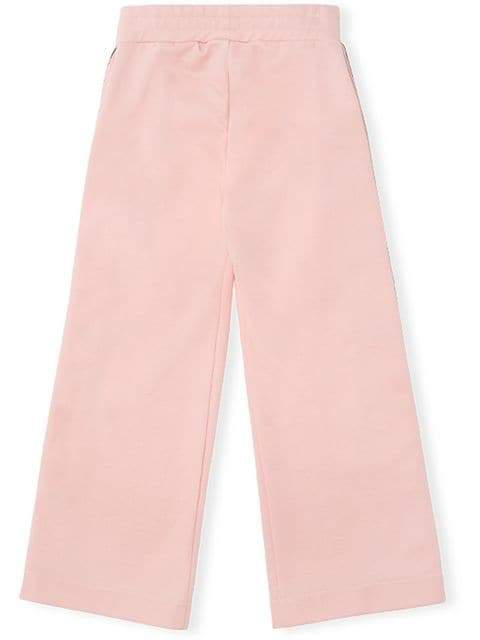 Fendi Kids Side Stripe Joggers Pink | Fendi Kids