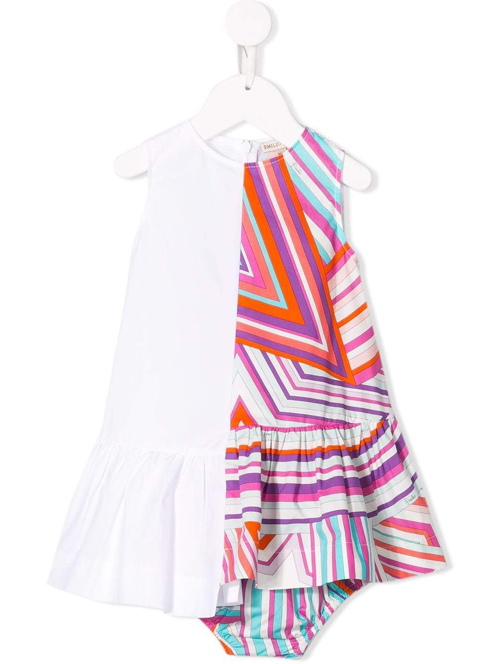 Emilio Pucci Junior BABY GIRLS COTTON DRESS WITH KNICKERS | Maison De Fashion