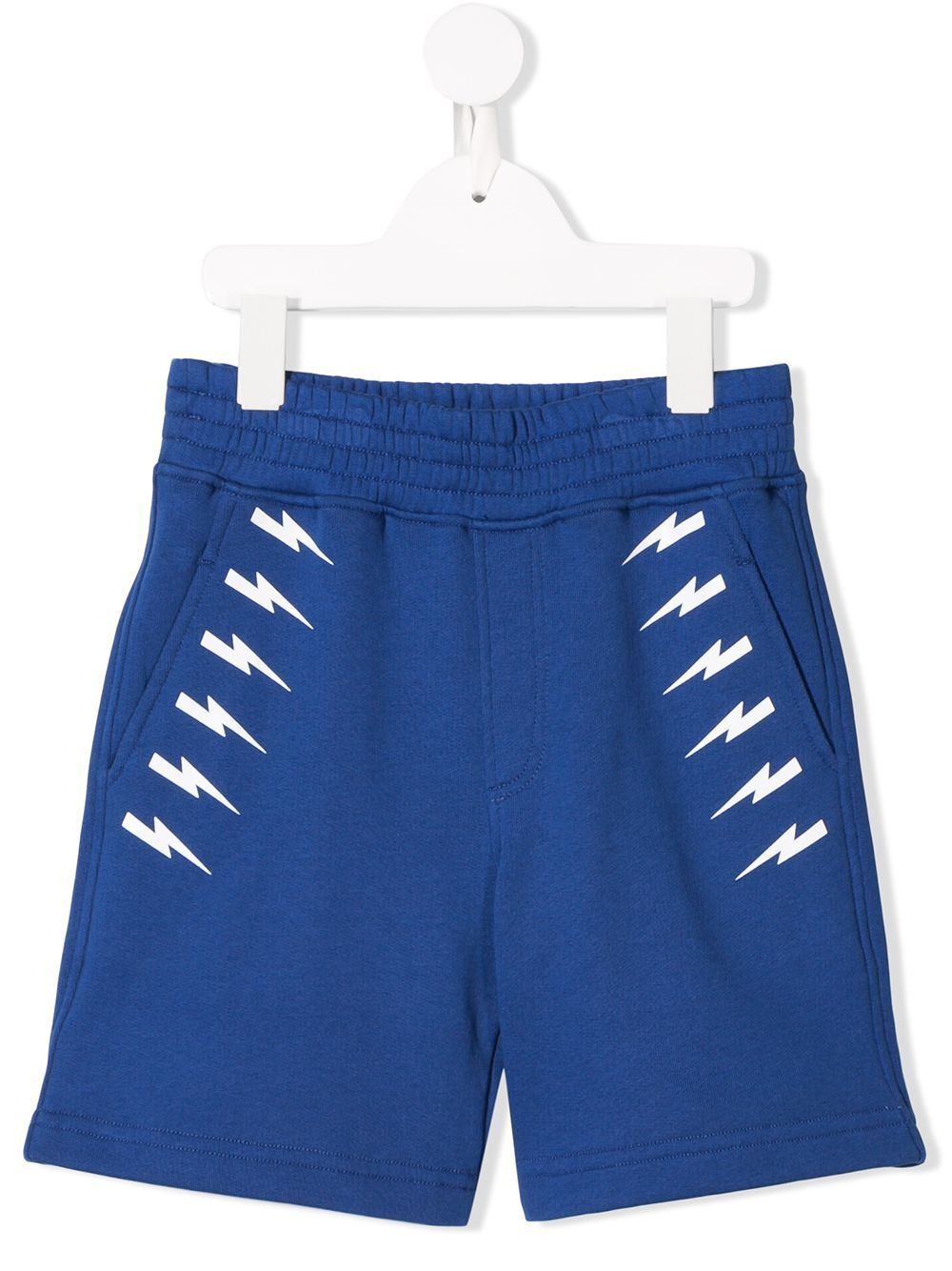 NEIL BARRETT KIDS lightning logo print track shorts | Neil Barrett Kids
