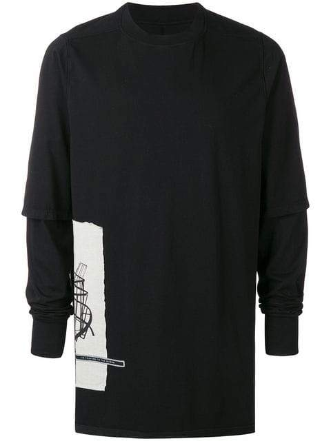 Rick Owens DRKSHDW Loose Fit Layered T-shirt | Rick Owens