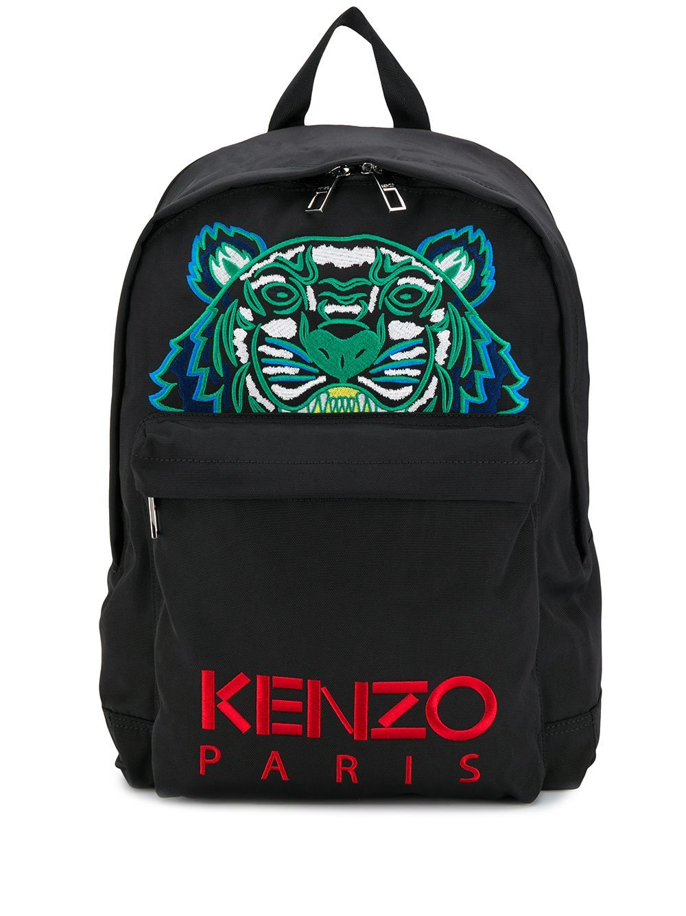 Kenzo Large Canvas Tiger Rucksack Black | Maison De Fashion
