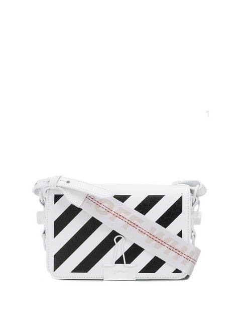 Off-White Clutch Bag White/Black | Maison De Fashion