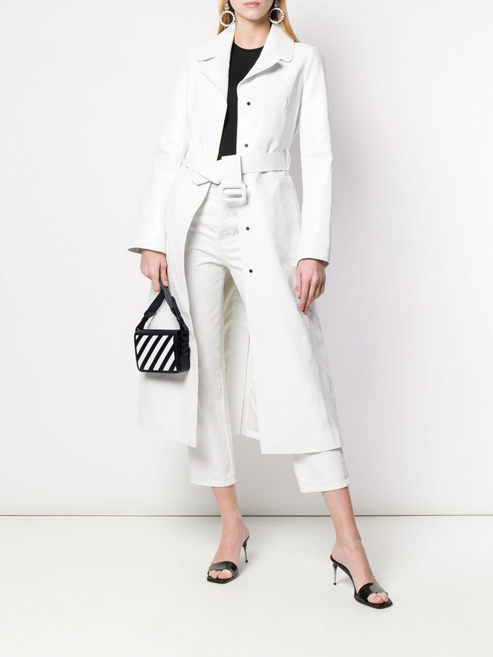 Off-White Clutch Bag Black/White | Maison De Fashion
