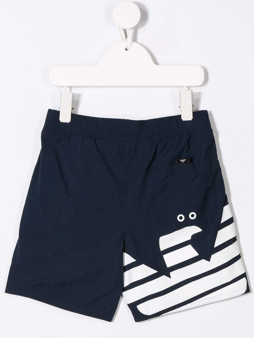 Emporio Armani Kids Navy Swim Shorts - Maison De Fashion