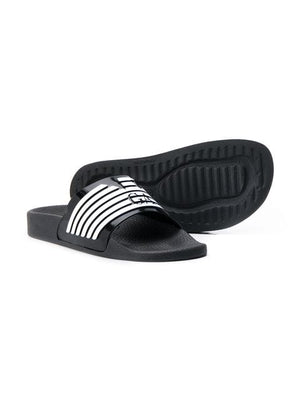 Emporio Armani Kids Sliders Black | EMPORIO ARMANI Kids