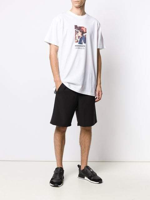Maharishi Cracked Portrait Graphic T-Shirt | MAISONDEFASHION.COM