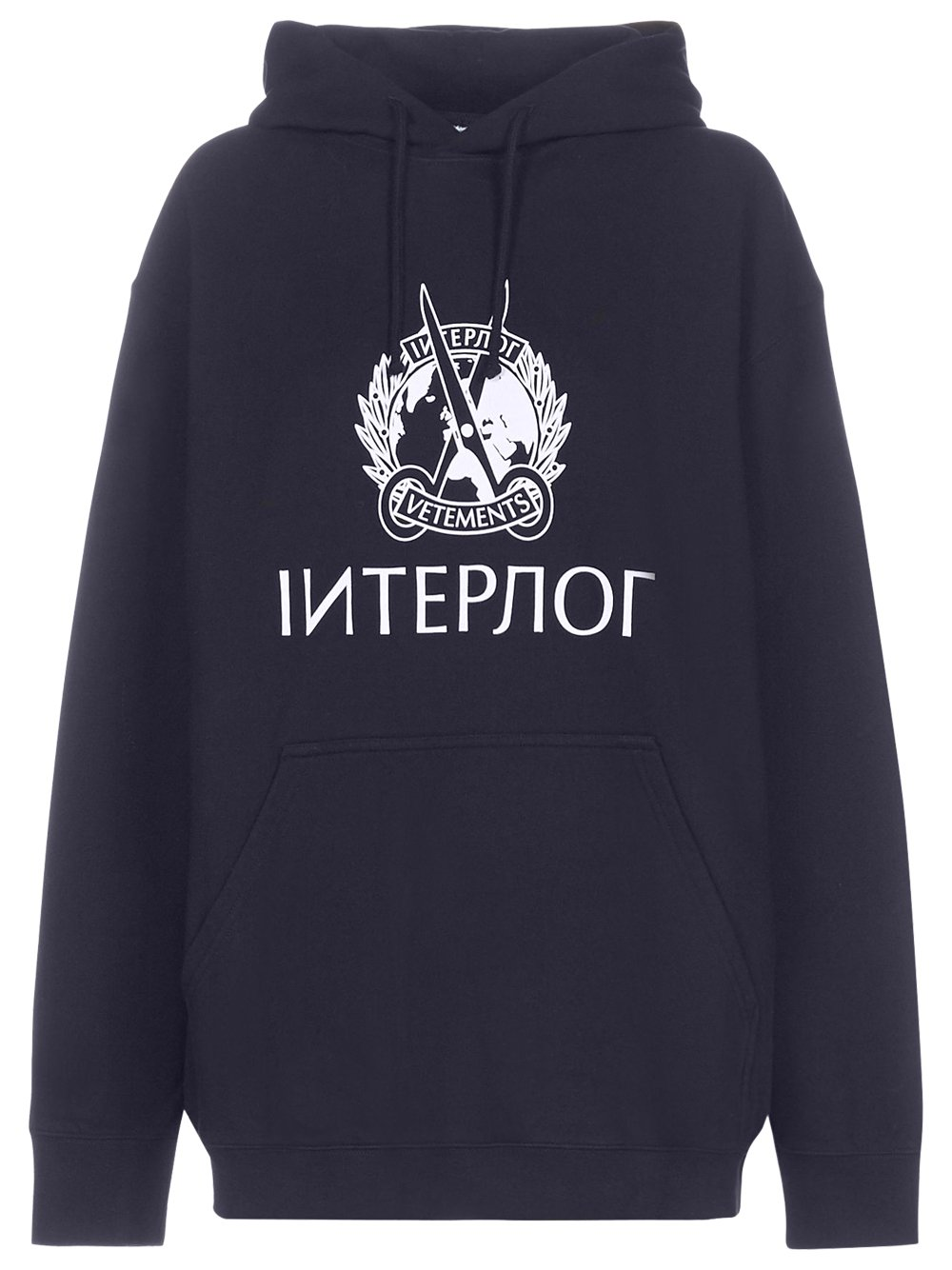 VETEMENTS interpol hoodie navy