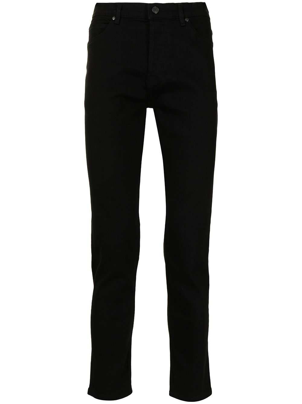 HUGO Button-fly tapered-leg jeans Black