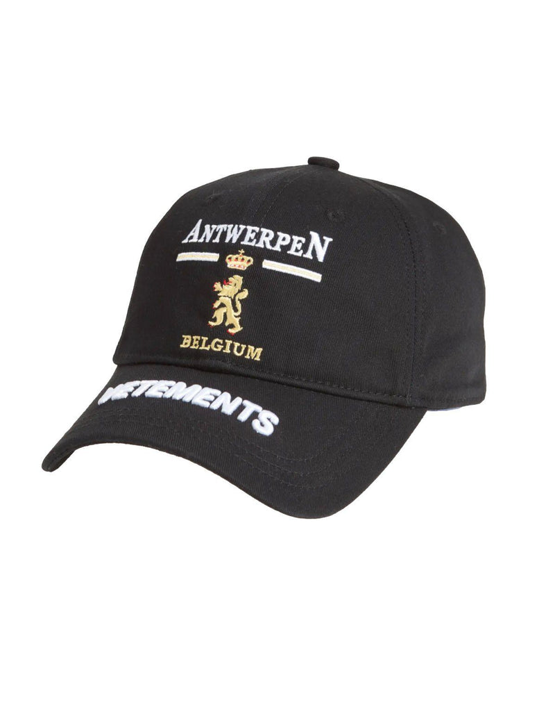 VETEMENTS Antwerp Logo Cap Black - Maison De Fashion
