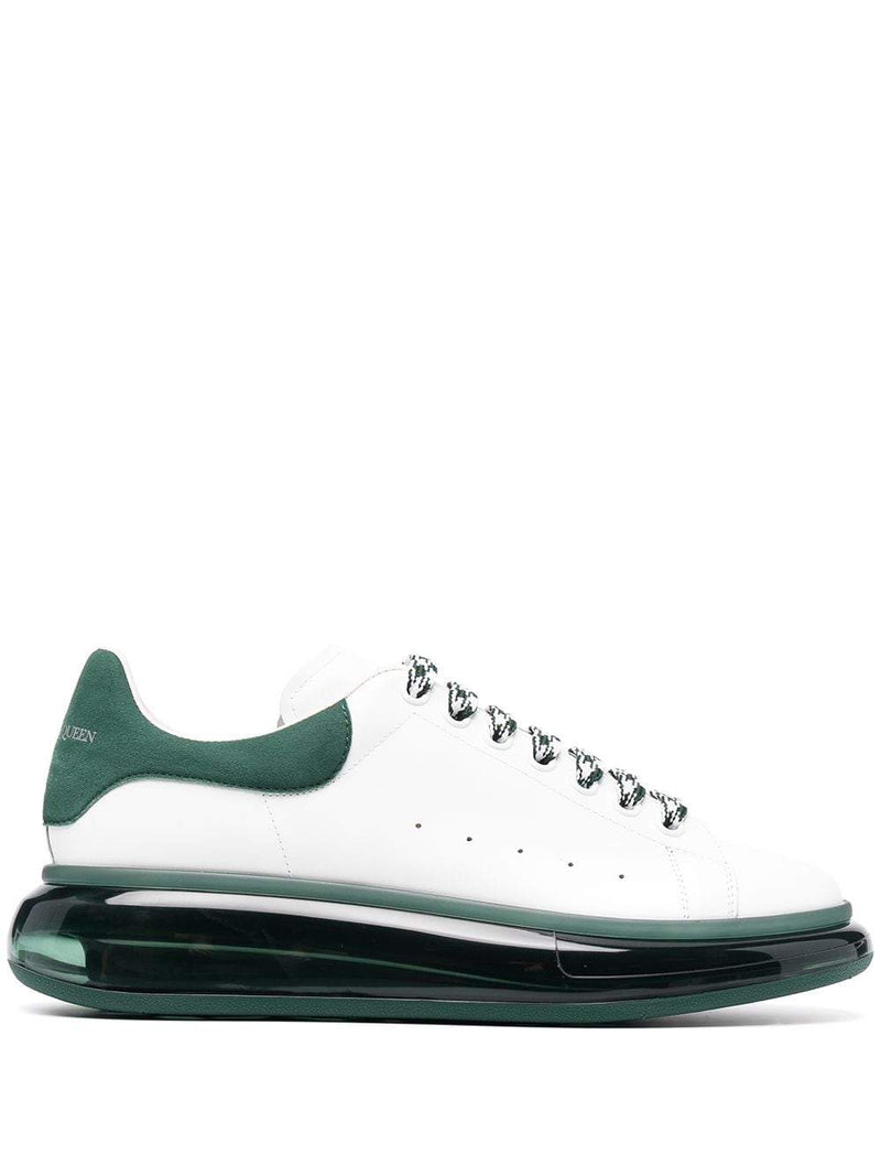 ALEXANDER MCQUEEN Oversized Sole Sneakers White/Green - Maison De Fashion