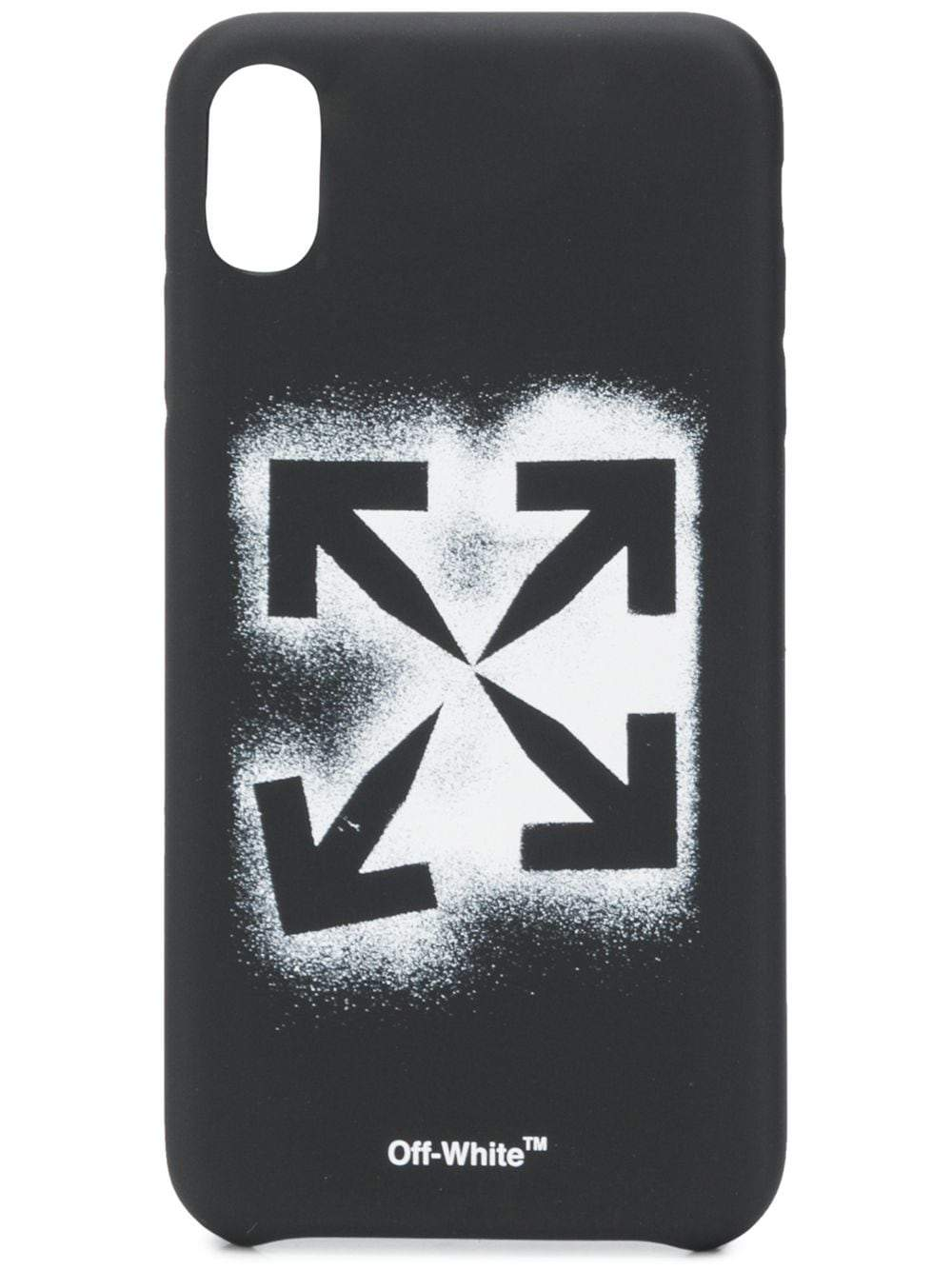 OFF-WHITE stencil iPhone XS MAX case black