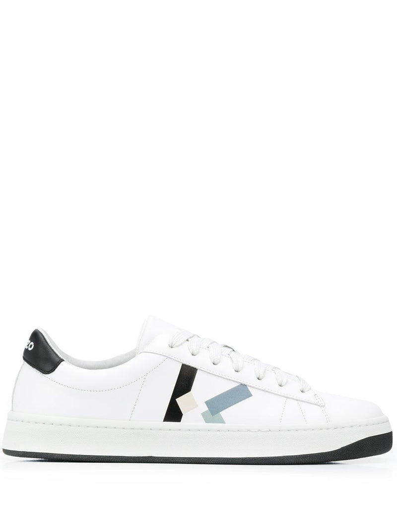Kenzo Low Top Lace Up Trainers White
