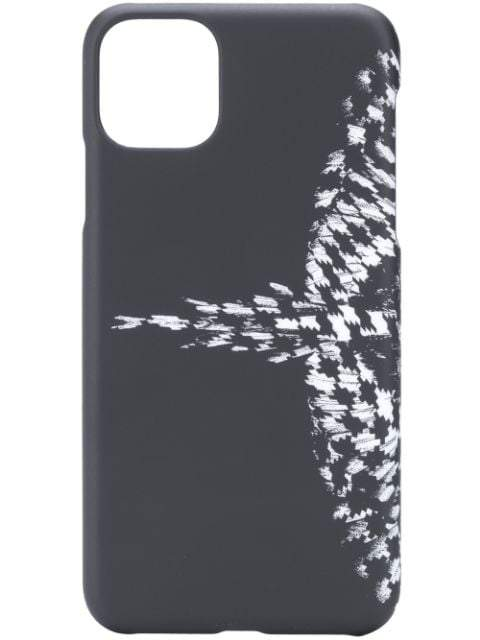 MARCELO BURLON Cross Pattern Wings iPhone 11 Case