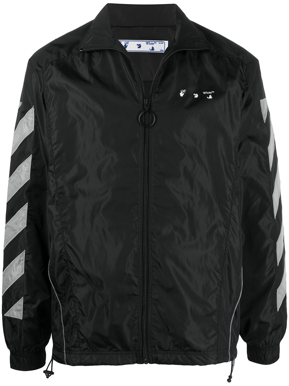 OFF-WHITE Diagonal Logo Track Jacket Black