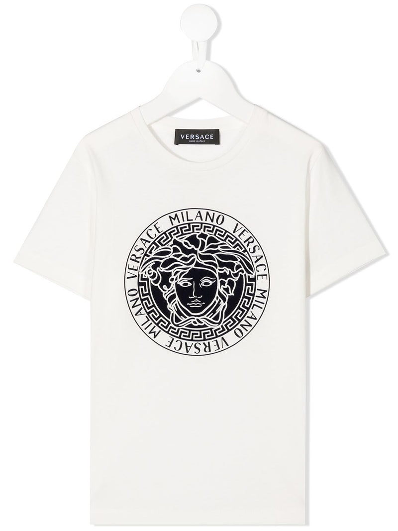 VERSACE KIDS Medusa Logo T-Shirt White - Maison De Fashion