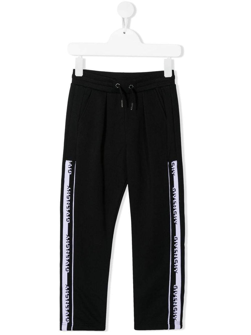 GIVENCHY KIDS Logo Tape Track Pants Black