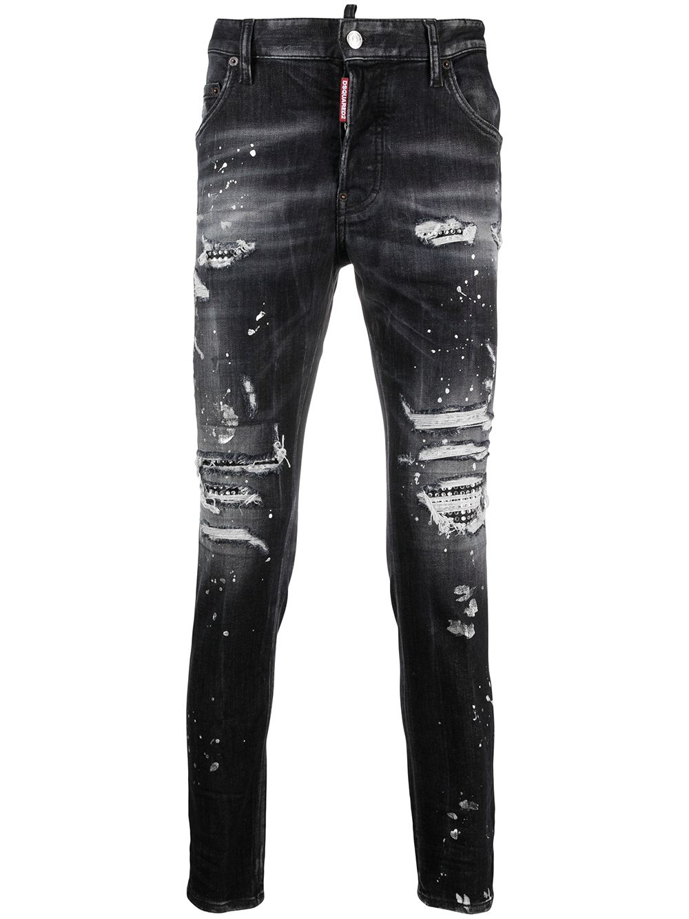 DSQUARED2 Tidy Biker Skinny Jeans Black