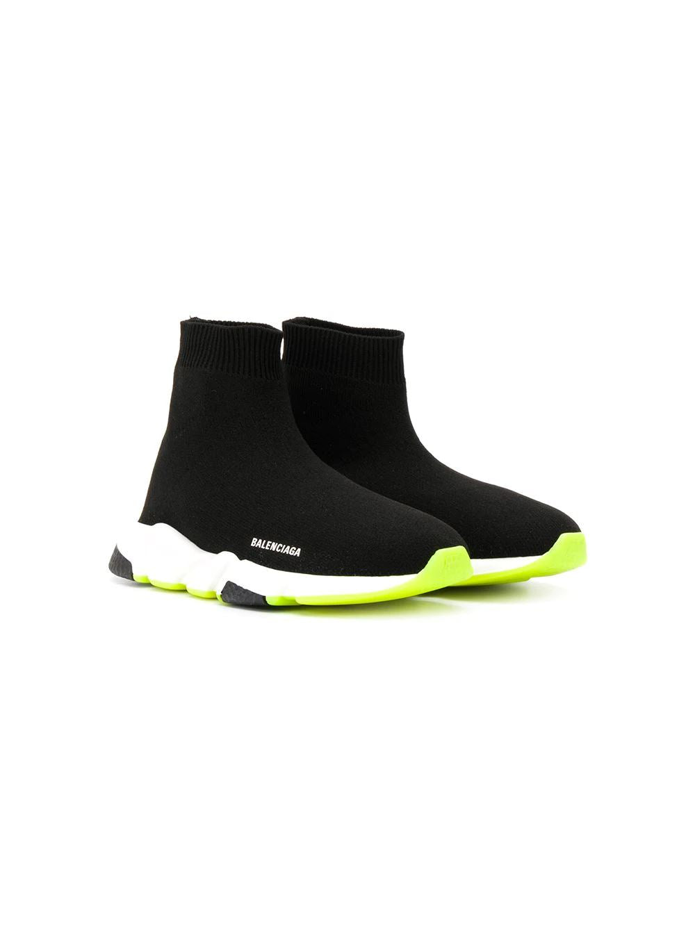 Balenciaga kids speed runner black/fluo - Maison De Fashion
