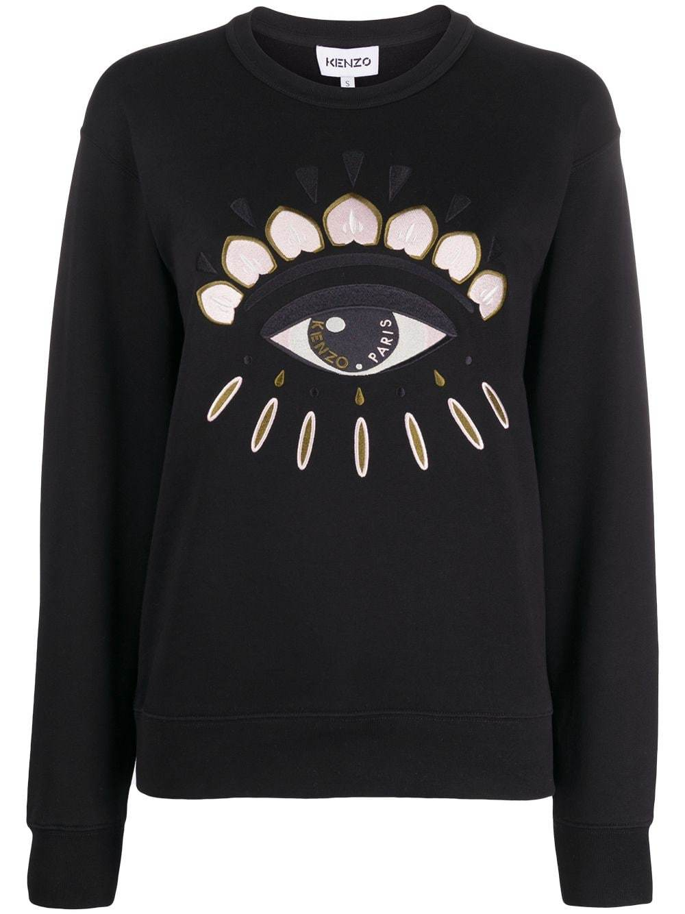 KENZO WOMEN Eye Logo Sweatshirt Black