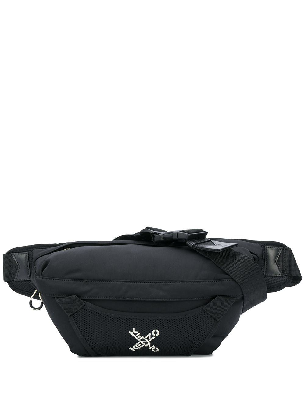 Kenzo Cross Logo Large Belt Bag Black