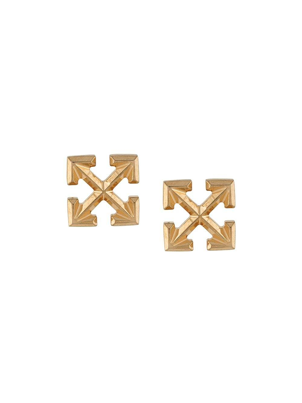 OFF-WHITE Arrow Earrings Gold