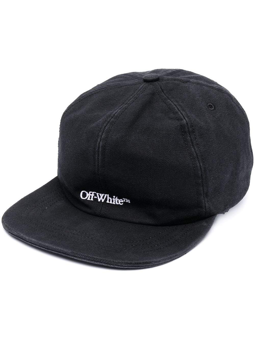 OFF-WHITE Logo Embroidered Baseball Cap Black
