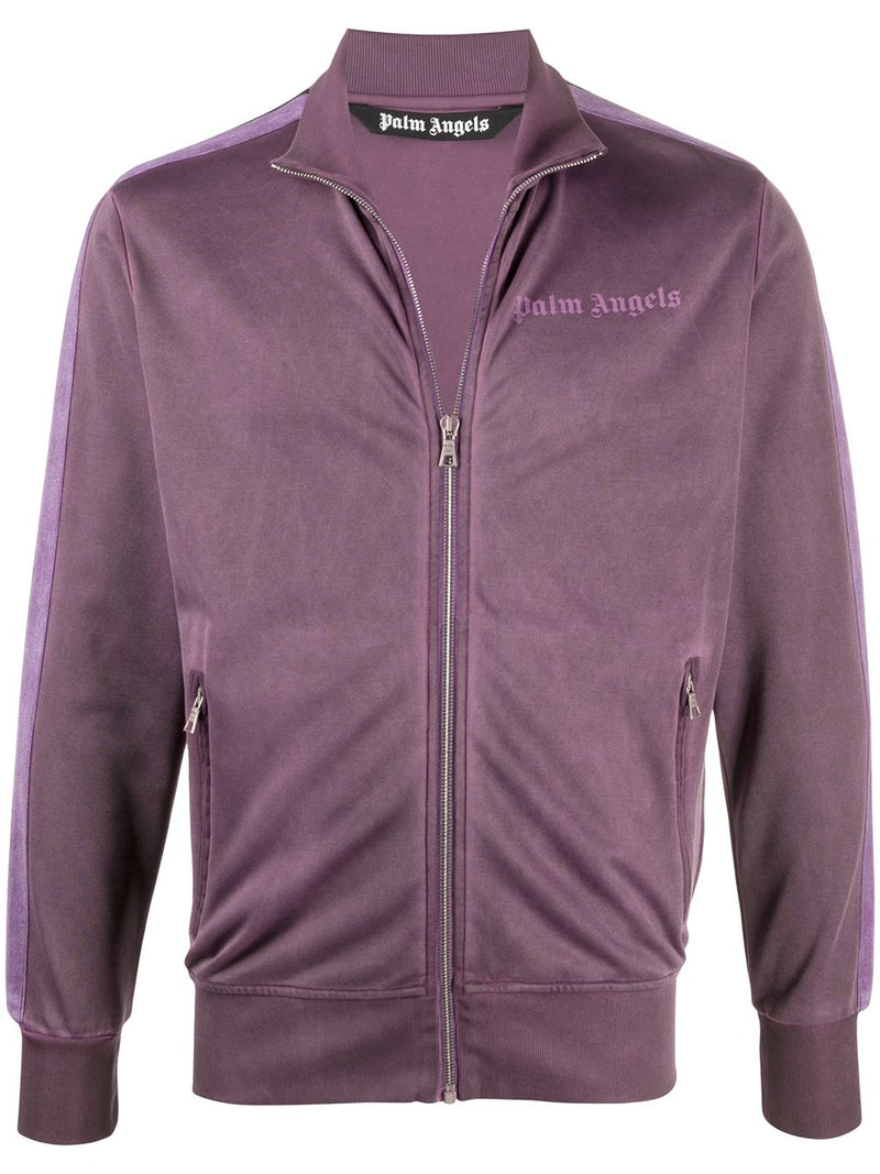 PALM ANGELS Garment Dyed Track Jacket Purple