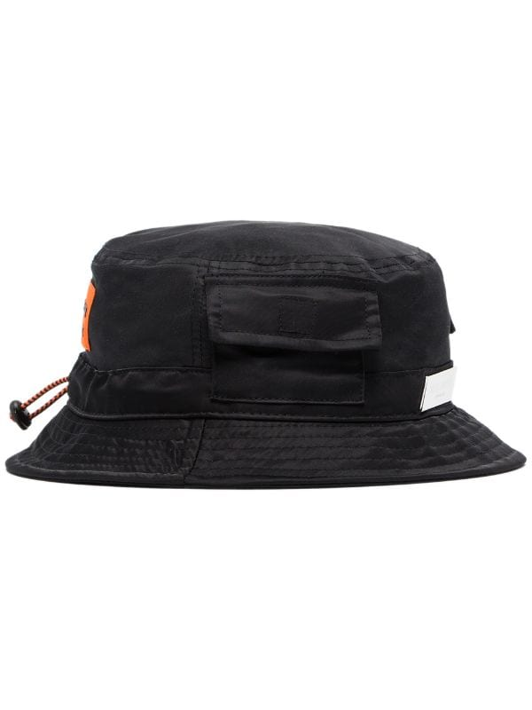HERON PRESTON logo bucket hat black