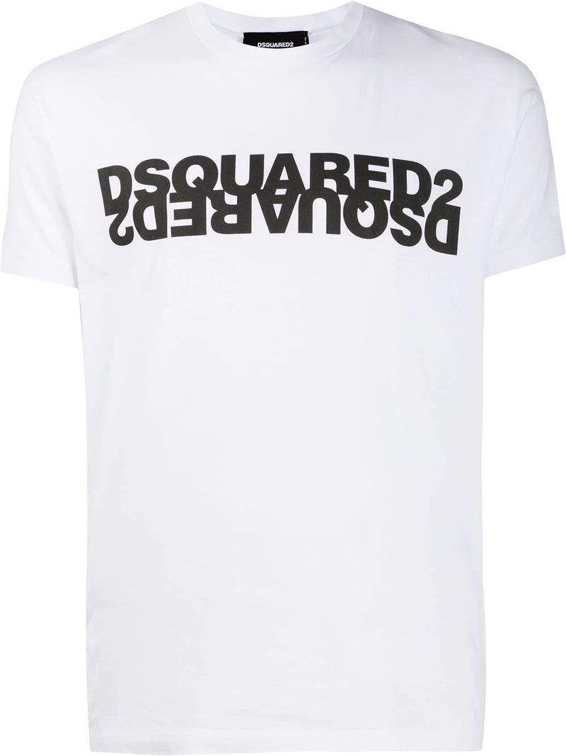 DSQUARED2 mirror-logo t-shirt white - Maison De Fashion