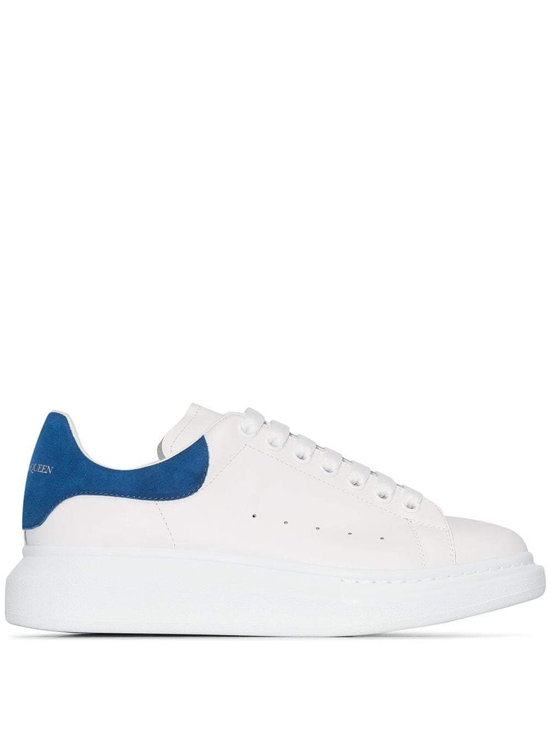 ALEXANDER MCQUEEN oversized sole sneakers white/blue