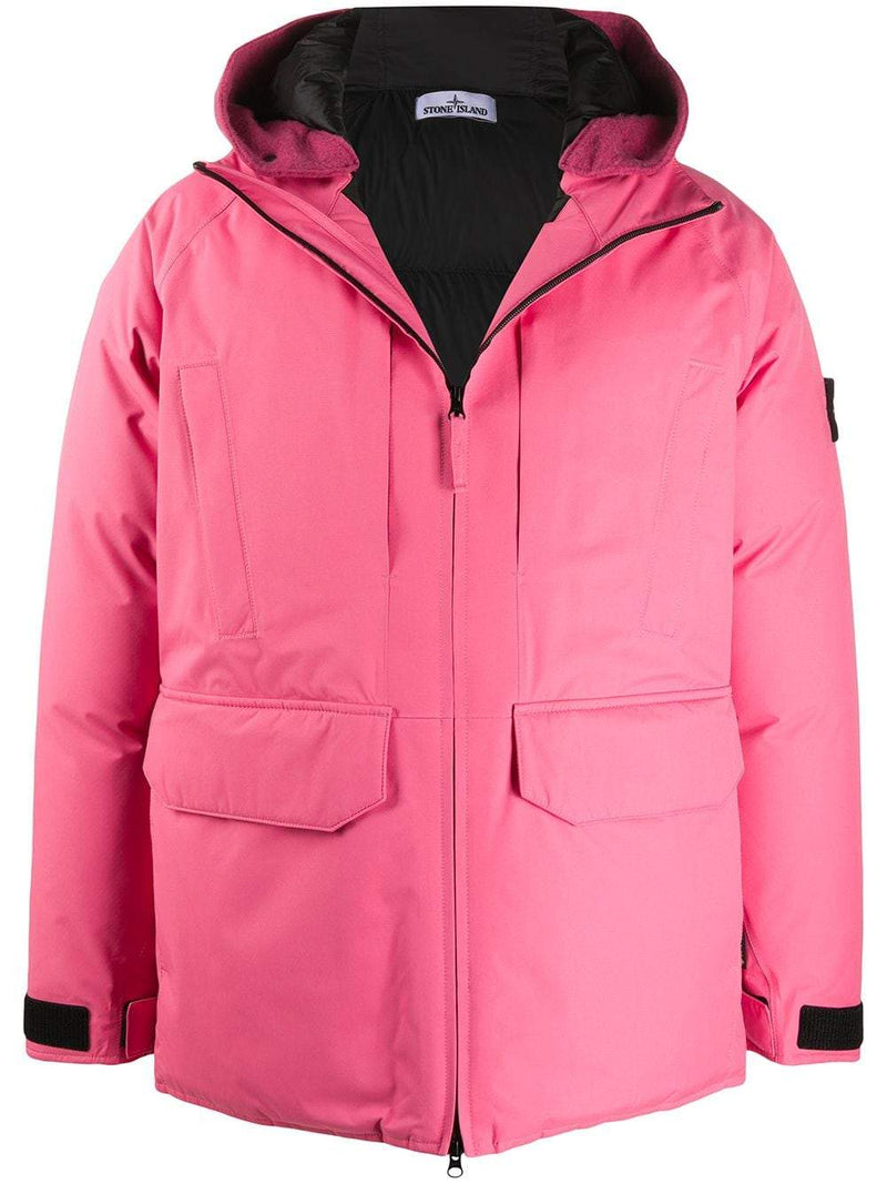 STONE ISLAND Ripstop Gore-Tex Down Coat Pink