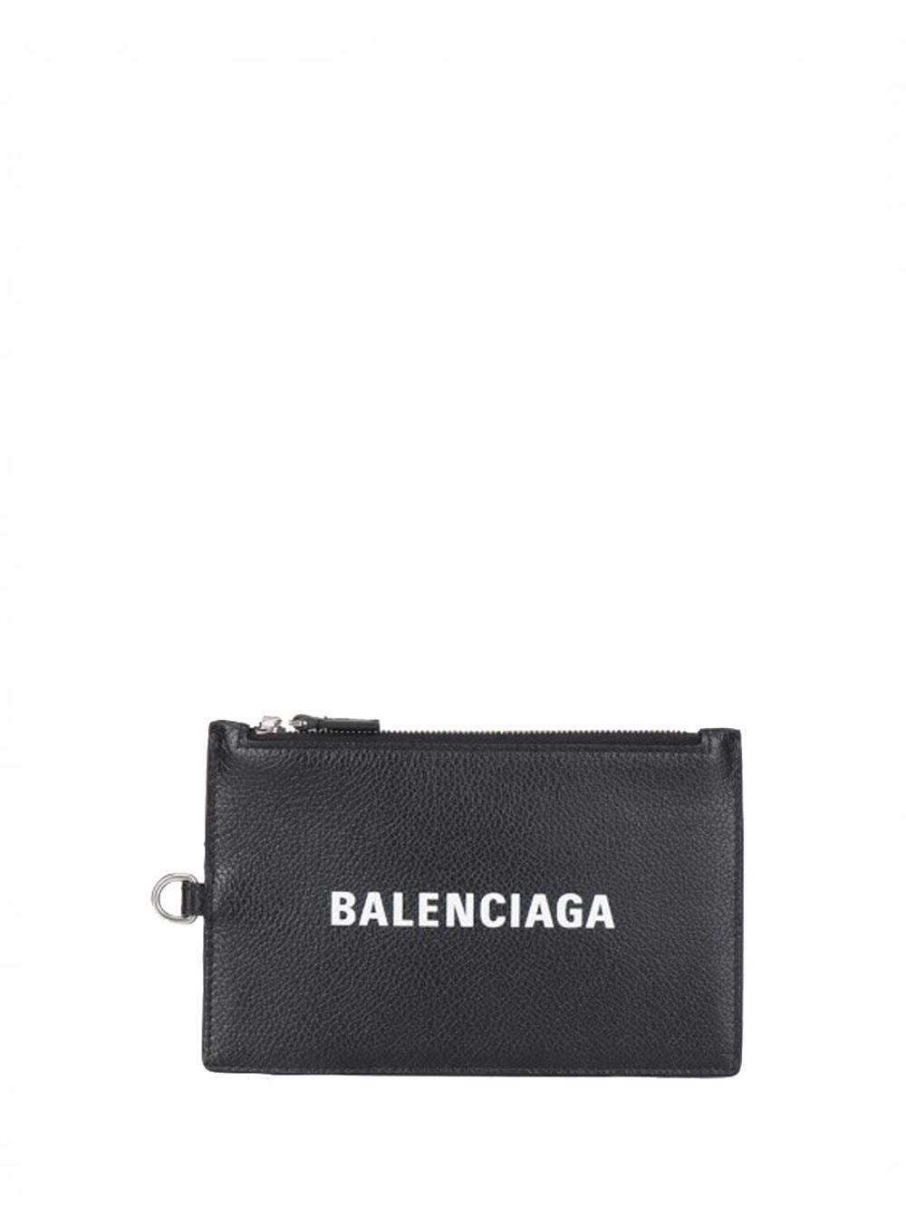 BALENCIAGA Zipped Cash Holder Black - Maison De Fashion