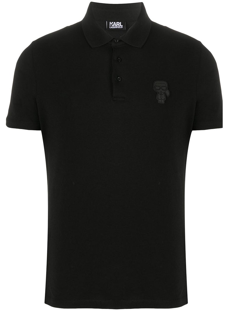 Karl Lagerfeld ikonik short sleeved polo shirt
