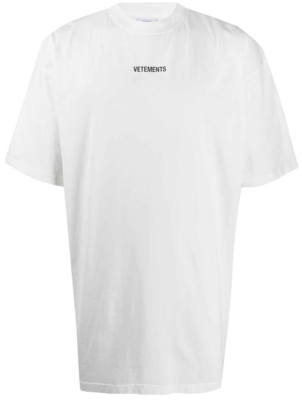 VETEMENTS Logo Patch T-Shirt White - Maison De Fashion