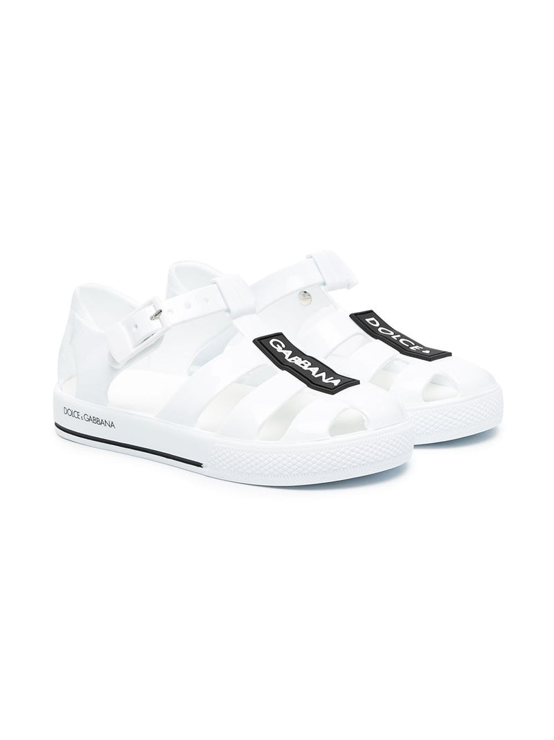 DOLCE & GABBANA BABY Closed-toe sandals White