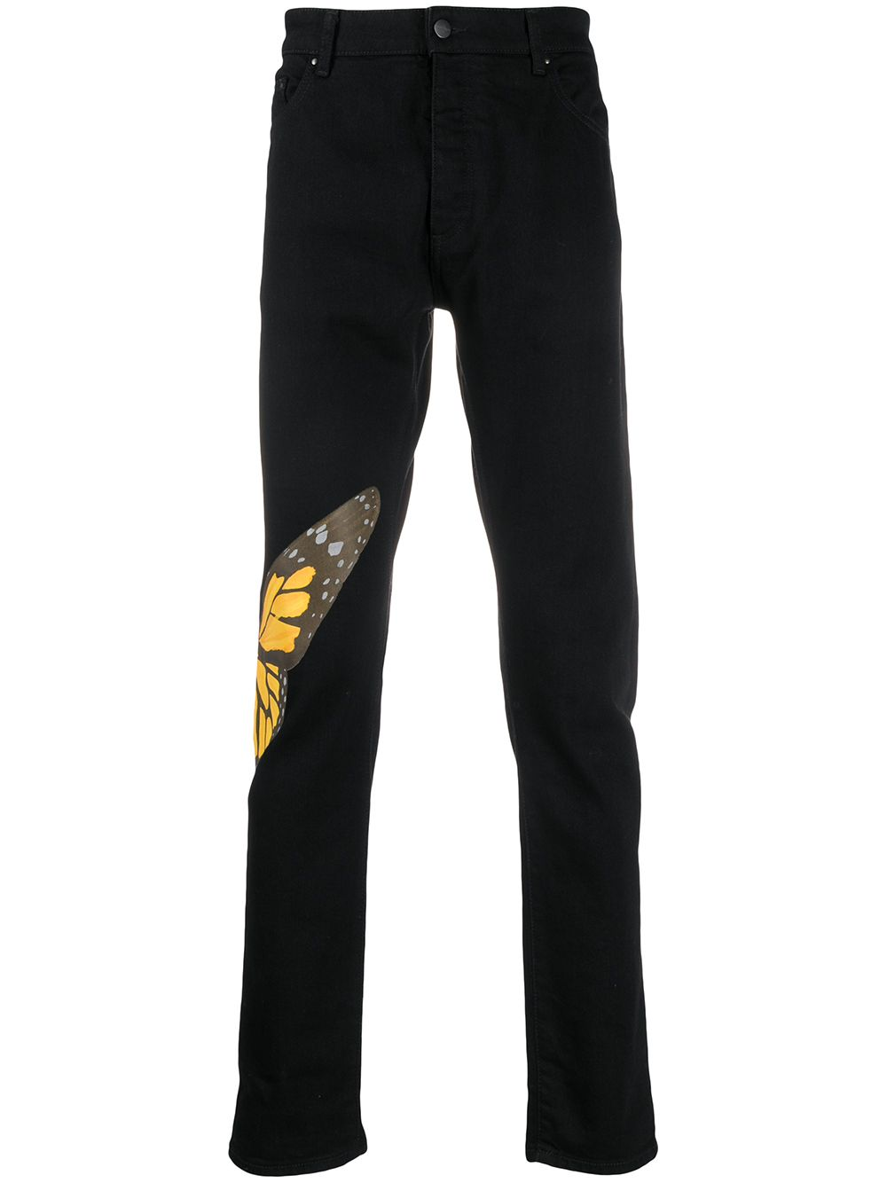 PALM ANGELS Wing Jeans Black