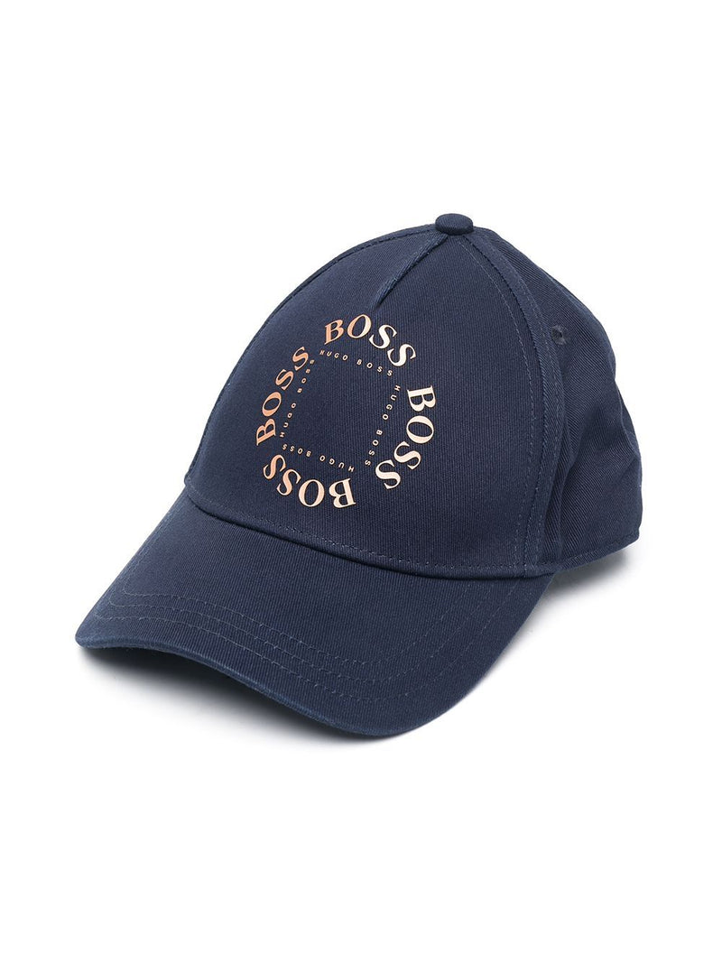 BOSS KIDS Logo-print cap Navy