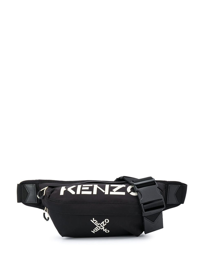 Kenzo Cross Logo Belt Bag Black