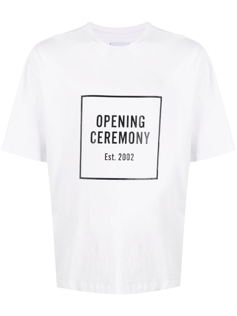 Opening Ceremony Box Logo Print T-shirt White
