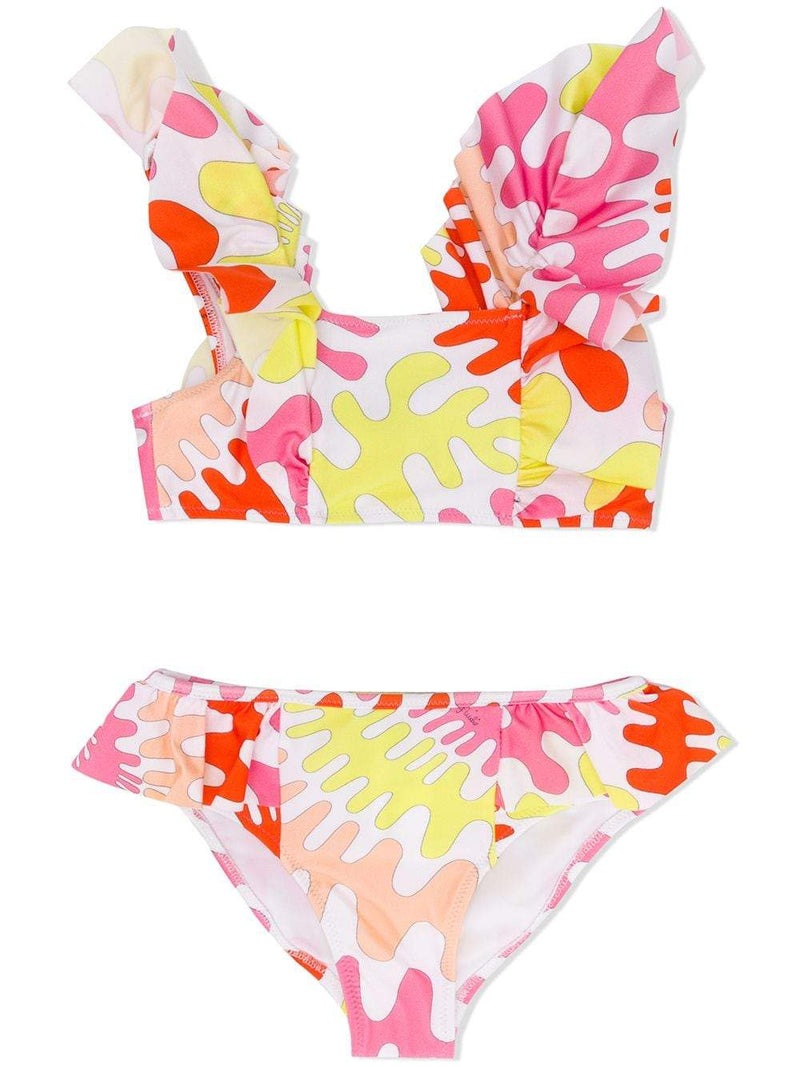 EMILIO PUCCI KIDS abstract print bikini set pink