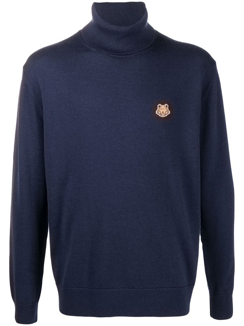 KENZO Tiger Turtleneck Sweatshirt Navy