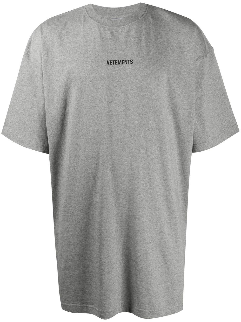 VETEMENTS Logo Patch T-Shirt Grey