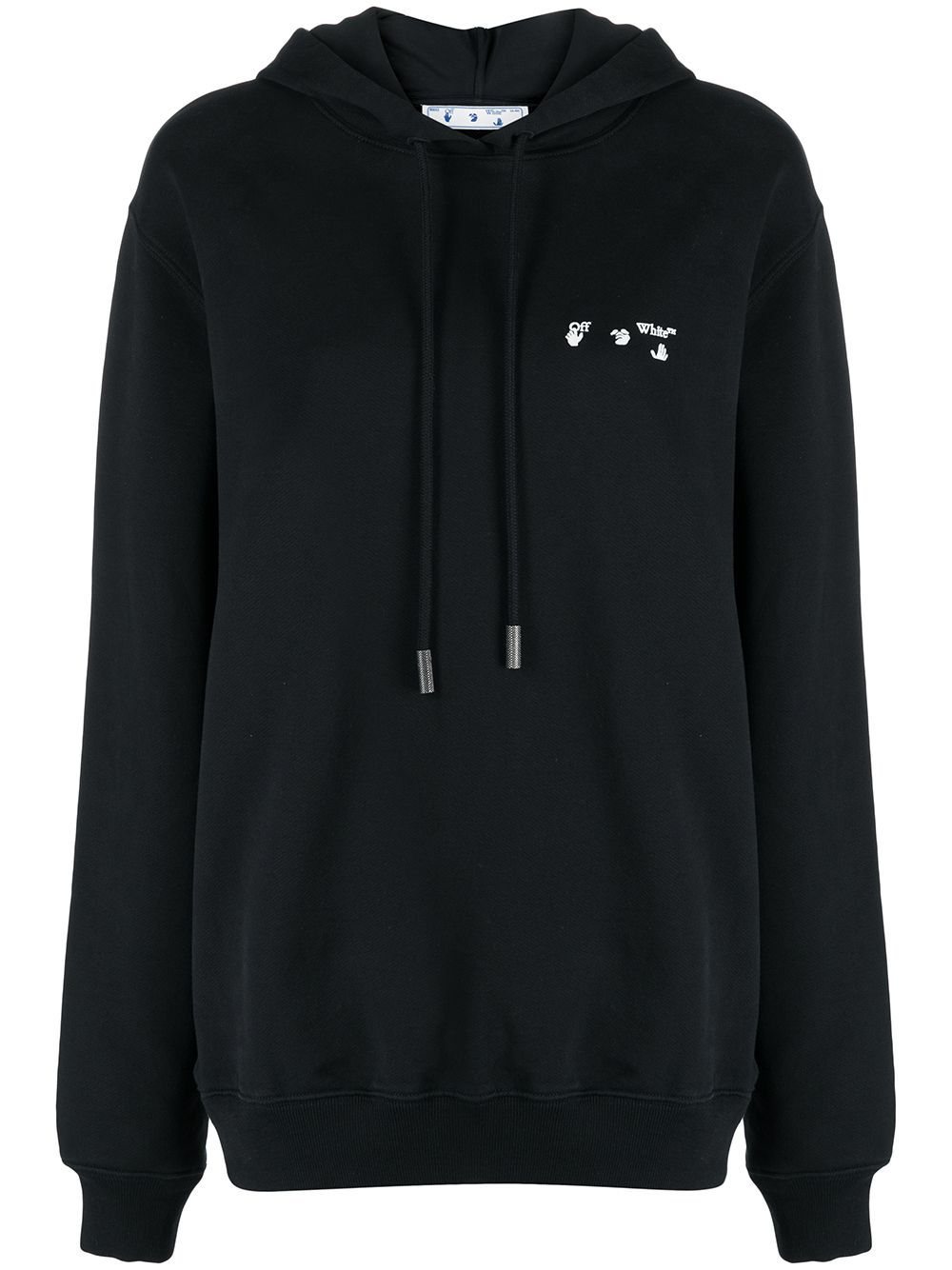OFF-WHITE WOMEN Logo Regular Hoodie Black
