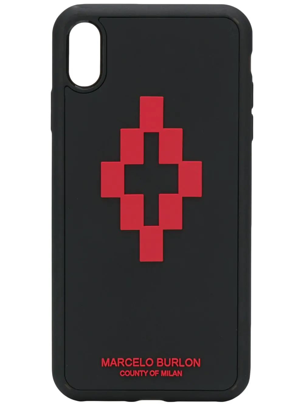 MARCELO BURLON 3D cross logo iPhone XS Max case - Maison De Fashion