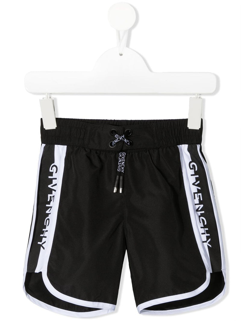 GIVENCHY KIDS Logo Swim Shorts Black