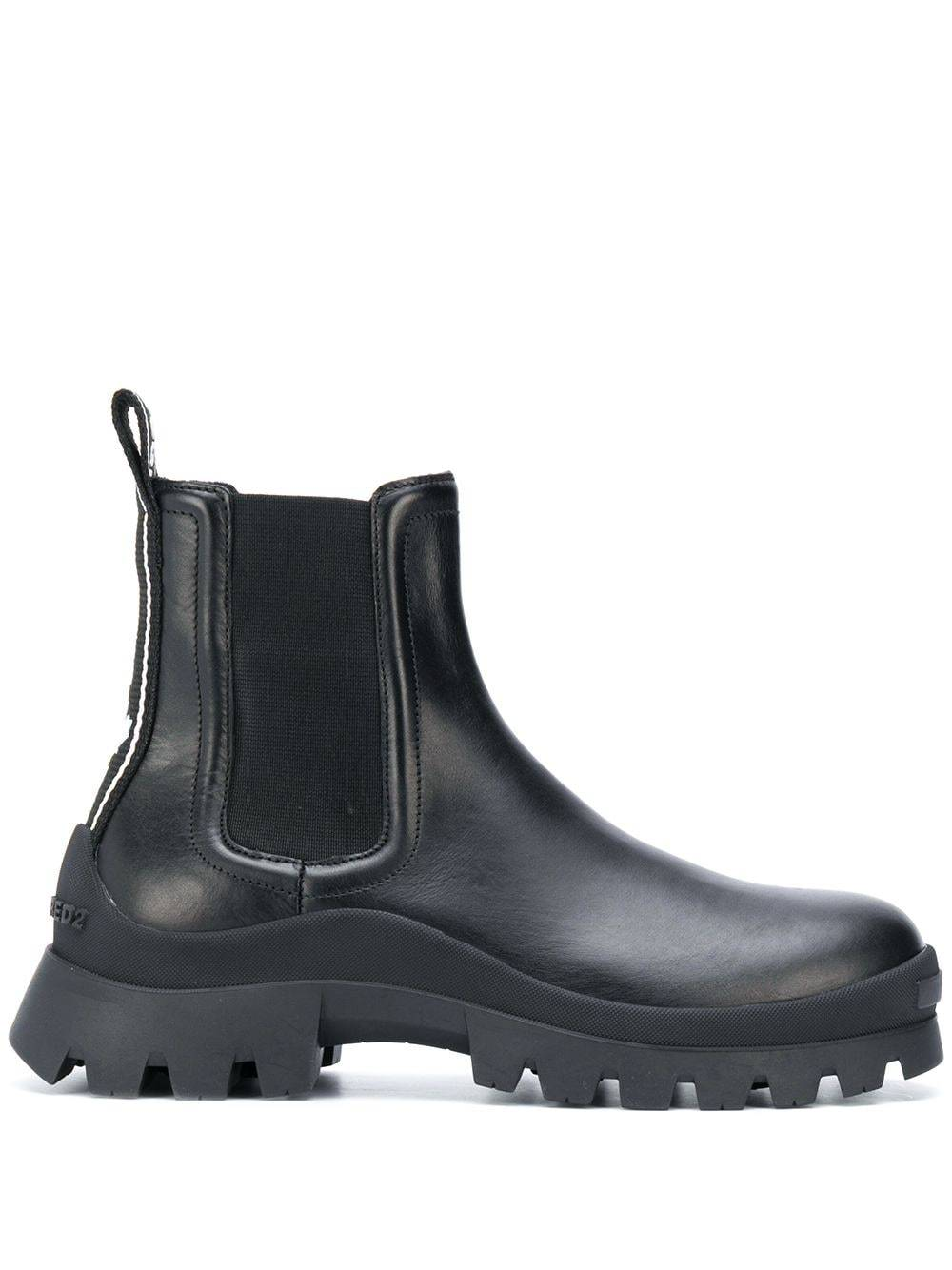 DSQUARED2 Flat Ankle Boots Black